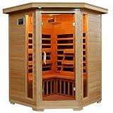 Blue Wave 3-Per Corner Carbon Infar Sauna