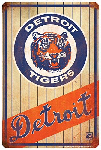 Tag City Novelty Signs Detroit Tigers Retro Sign 8 X 12