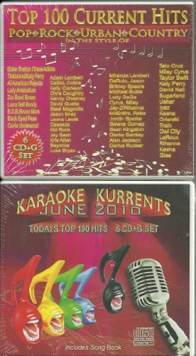 NEW Karaoke Kurrents June 2010 6 CDG Set 100 Hot Songs! by N/A (0100-01-01)