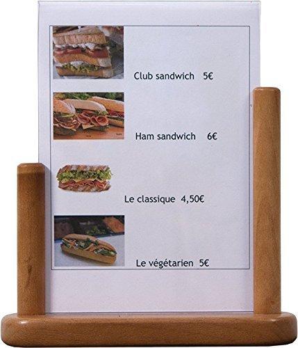 Securit Table Menu Poster Frame A5, Teak by Securit