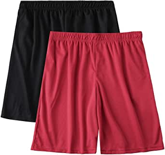 Essentials Men/'s 2-Pack Loose-Fit Performance Shorts