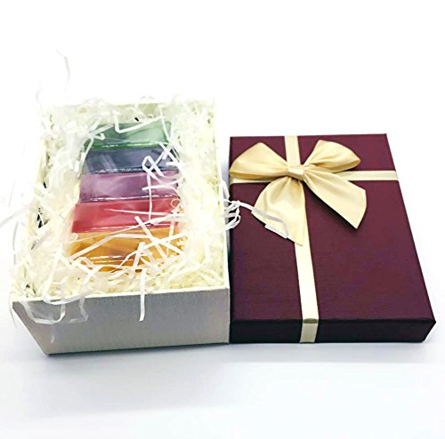 LUXEHOME 100% Nature Essential Oil Handmade Guest Soaps Gift Set, 5 PCS per Package, Muilt-Scent, Each Soap 4oz