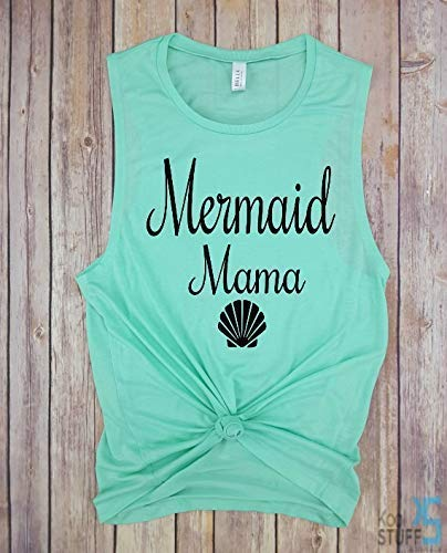 Mermaid Mama, Muscle Tank, Mermaid Mom, Mermom Shirt, Mother Of Mermaids, Mermaid Mom Shirt, Mermaid Mama Shirt, Mermama Shirt, Mermaid Shirt, Mermaid Mom Shirt Mama Shirt Shirt, mom life shirt