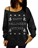 Lymanchi Women Casual Long Sleeve Ugly Slouchy Off-Shoulder Sweatshirt Tops