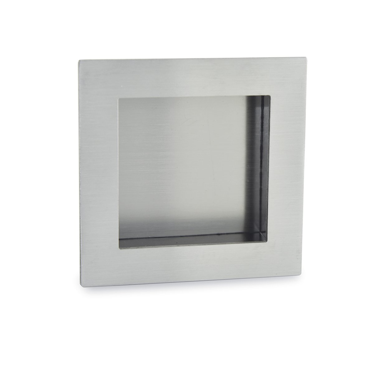 Jako WFH113X75PSS Square Flush Pull - Polish Stainless Steel, Size: 2 61/64''