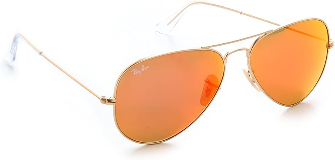 ray ban aviator glasses gold