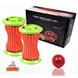 ChiFit Foot Rollers, Plantar Fasciitis Massage Rollers(A Pair to Each Feet),Manual Foot Massagers - Shiatsu Acupressure Relaxation - Foot Arch Pain Relive - Parents Gift