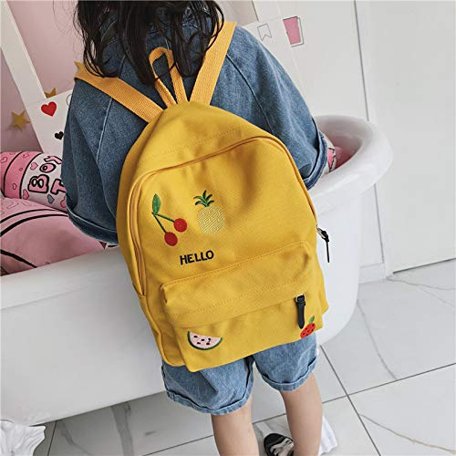 (ZHAOSHOP Backpack Fashion Student Cute Bag Cherry Big Capacity Casual boy Travel Travel Wild Backpack )