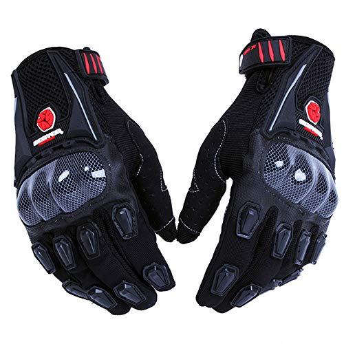 SCOYCO Men's Gloves Black,with Microfiber Hard Knuckle,Waterproof,Breathable, Powersports,Motorbike,Scooter,Motorcycle Glove.(BLACK,L)