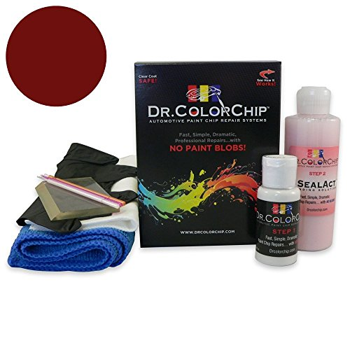 Dr. ColorChip Jeep All Models Automobile Paint - Chili Pepper Red Pearl Coat EA/VEA - Squirt-n-Squeegee Kit]()
