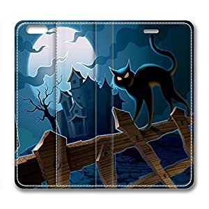 Halloween Cat Design Iphone 6 Plus Leather Case Vigilant