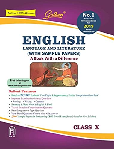 golden english language and literature with sample papers a book rh amazon in english golden guide for class 10 cbse download pdf english golden guide for class 10 cbse online