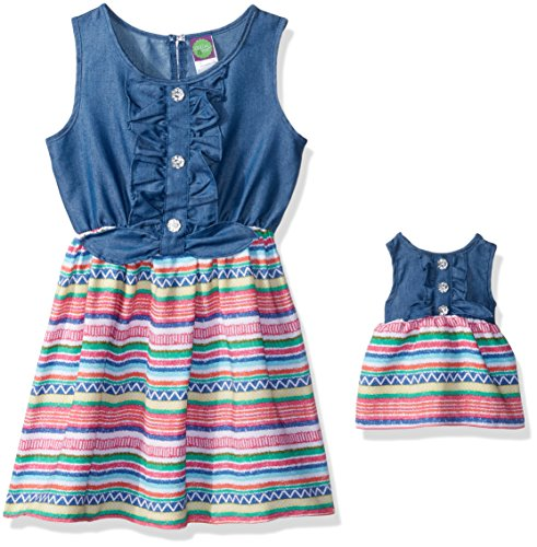 dollie-me-little-girls-knit-chambray-to-woven-dress-and-matching-doll-outfit-multi-indigo-4