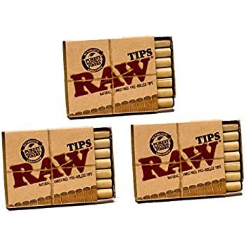 Amazon Com Raw Rolling Papers Unbleached Filter Tips 10