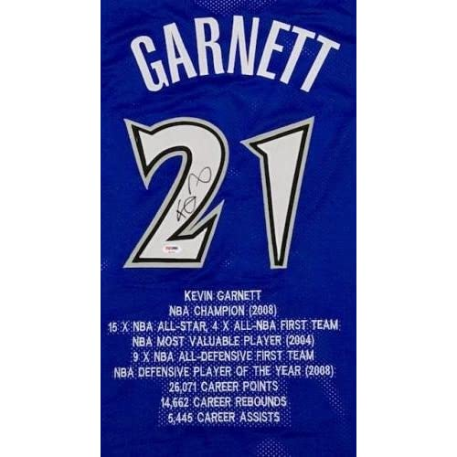 huge selection of 7f50d 30284 Kevin Garnett Signed Jersey - STAT ITP COA #8A31243 - PSA ...