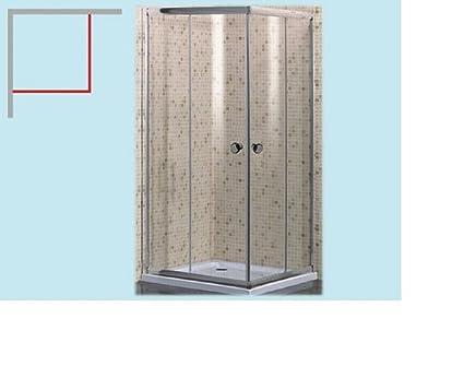 Cabine Doccia Cristallo : Box doccia angolare in cristallo vetro serigrafato da mm smeralda
