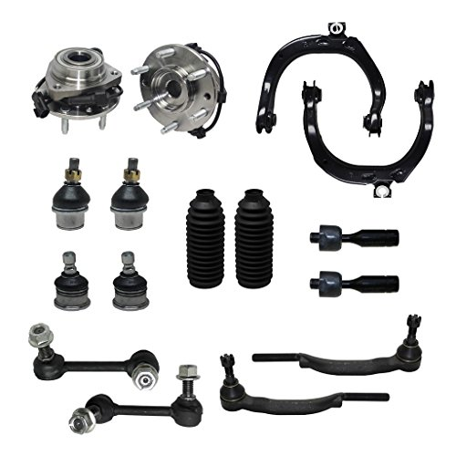Detroit Axle - 16mm Tie Rod Ends Only Check Before YOU Order - Complete 16pc Front Suspension Kit - Front: 2 Wheel Bearings, 2 Upper Control Arms, All (4) Upper & Lower Ball Joints...