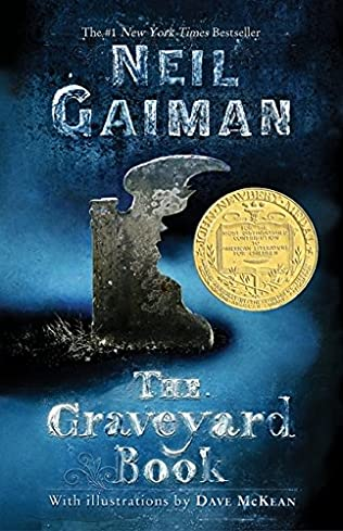book cover of The Graveyard Book