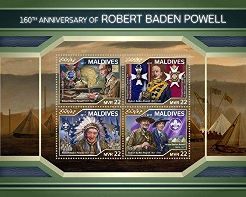 Maldives - 2018 Robert Baden Powell - 4 Stamp Sheet - MLD18108a ()