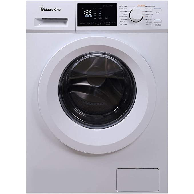Magic Chef Energy Star 2.7 Cu. Ft. Ventless Washer/Dryer Combo in White Best All-in-One Washer Dryer Combo Machines
