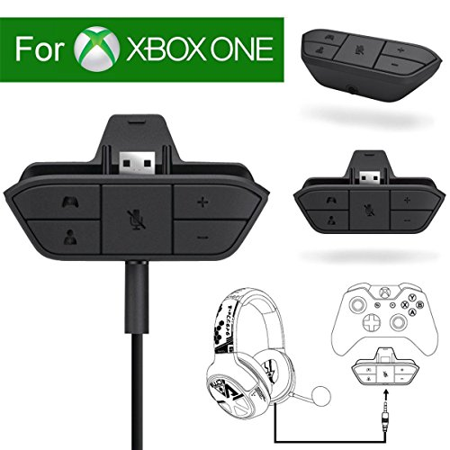 Microsoft Wireless Mic - Xbox Stereo Headset Adapter Audio Game For Microsoft One Controller Dr - Chat And Synchronous One Stereo Headphone Accreate Best Converter