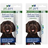 Dr. Brite Pet Pure Teeth & Gum Cleaning Pen (2-Pack) | Fights Tartar Buildup | Freshens Pet Breath | Helps Reduce Plaque | Boosts Gum Health | Contains Vitamin C | 100% Safe, Human-Grade Ingredients