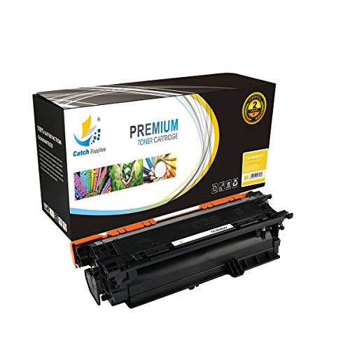 Catch Supplies Replacement CE402A Yellow Toner Cartridge for the HP 507A series |6,000 yield| compatible with the HP LaserJet Enterprise 500 color M551, M575, and LJ Pro M570