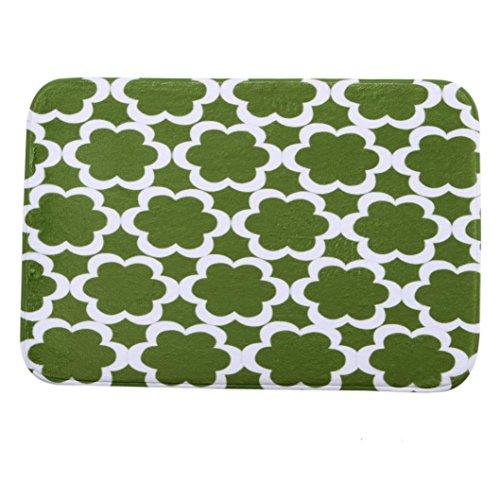 40cm x 60cm Anti-Slip Soft Floor Rug Carpet Bathroom Bedroom Bath Shower Mat (White) - 8