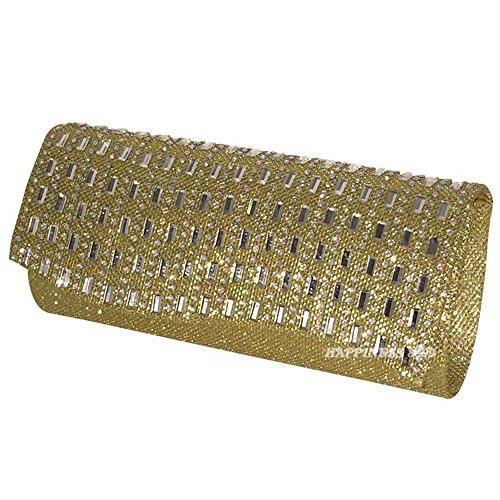 Prom Wedding Bag Gold Bling 3 Bride Pouch Diamante Engagement Cocktail Wocharm Evening Silver Lady Party Gold Girl Women Clutch Purse Black zwcgYq