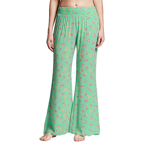 Xhilaration Green - Masked Brand Xhilaration Women's Gauze Sleep Pant (Small, Green Floral)