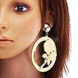 1 Pair Dangle Earrings Fashion Jewelry Rose Flower Clubwear Statement Hiphop