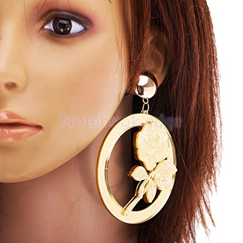 1 Pair Dangle Earrings Fashion Jewelry Rose Flower Clubwear Statement Hiphop by notebook.edge