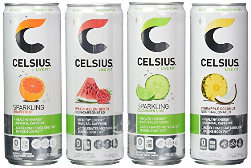 Celsius Live Fit Natural Fitness & Energy Drink 12/12oz Cans (Variety Pack) ()