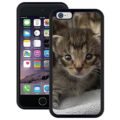 Süße Katze | Handgefertigt | iPhone 6 6s (4,7') | Schwarze Hülle