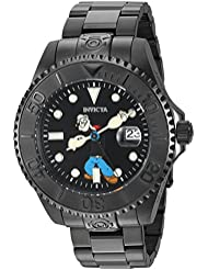 Invicta Mens Character Collection Automatic Stainless Steel Casual Watch, Color:Black (Model: 24471)