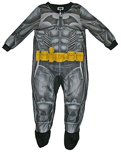 DC Comics Boys Batman Footed Blanket Sleeper Pajama (XS (4/5))