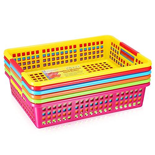 Black plastic trays for organizing