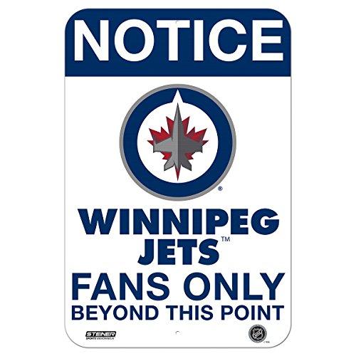 Winnipeg Jets Fans Only 8x12 Aluminum Sign - Jets Signed Winnipeg
