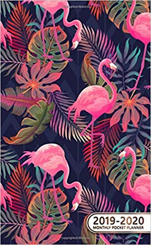 2019-2020 Monthly Pocket Planner: Two-Year Tropical Flamingo ...