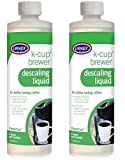 Urnex K-Cup Coffee Maker Descaler and Cleaner (3 Uses Per Bottle) - 2 Pack - CleanCup Descaling and Cleaning Solution Use With All Keurig K Cup and Drip Coffee Machine