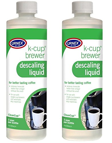 Urnex Descaling Solution (3 Uses Per Bottle) - 2 Pack - CleanCup Descaling and