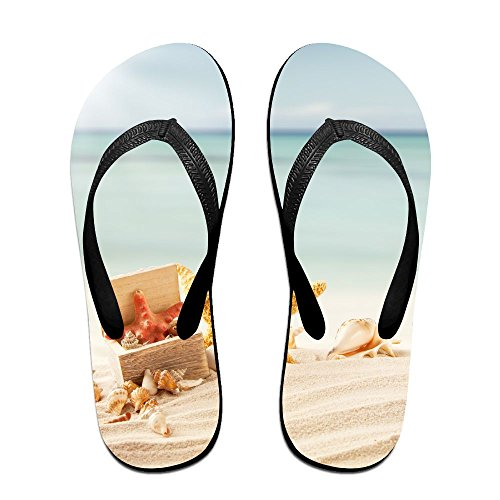 Beach Unisex Slipper Starfish Couple Slip Non Flops Sunshine Flip Slippers Sandals Thong Rubber Chic Print House Black xtpw0Rw