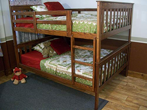 A & L Furniture Co. Amish Made Verisoft Yellow Pine Full Size Mission Bunkbed - Ships Free in 5-7 Business Days