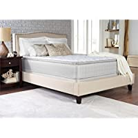 Coaster Marbella II Collection 350055Q Queen Size 13 Pillow Top Mattress with 2 Layers Ultra Soft Quilt Foam Tack N Jump Quilting Foam Topper and Foam Encased Edge Support in White