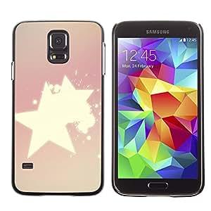 MOBMART Carcasa Funda Case Cover Armor Shell PARA Samsung Galaxy S5 - Radiance Of Shinning Stars