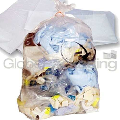 10 x Strong Heavy Duty Clear Refuse Sacks Bags 18x29x39' GP Globe Packaging