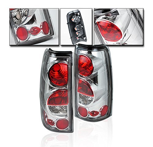 Brake Chevrolet 2500 Silverado - ZMAUTOPARTS Chevy Silverado/GMC Sierra Pickup Tail Brake Lights Rear Lamp Chrome