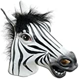 JRing Full Head Zebra Mask Latex Animal Creepy Halloween Cosplay Party Costume, Masques en Caoutchouc - Homme Taille unique(Zebra)
