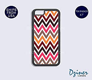 iPhone 6 Case - 4.7 inch model - Colorful Multi Chevron iPhone Cover