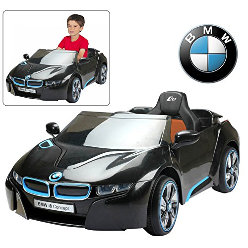 BMW i8 12V Kids Ride On Car with Remote Control | Official Licensed Power Battery Kid Car to Drive with 2.4G Radio Parental Control Black